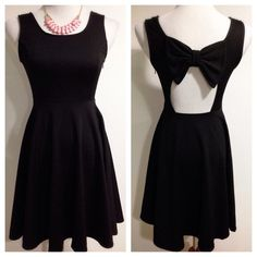 """Spotted while shopping on Poshmark: """"Black Bow Back Dress""""! #poshmark #fashion #shopping #style #Dresses"""