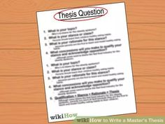 Image titled Write a Master's Thesis Step 2