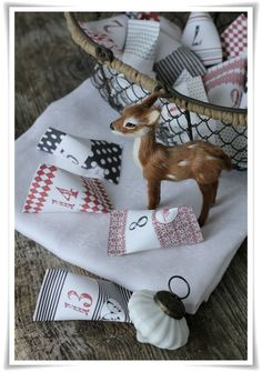 paper box advent calendar - and where do I get that ADORABLE little deer?!