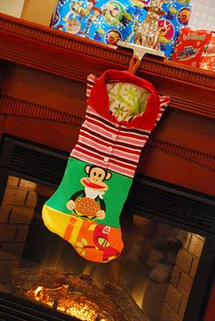 Patchwork knit memory stocking