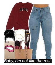 """""""."""" by renipooh ❤ liked on Polyvore featuring NIKE, Converse, Melissa Odabash, Michael Kors and Casetify"""