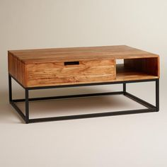 Wood Silas Storage Coffee Table