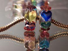 European Charm Murano Glass Bead Red Blue Green Flower Stripes Fish Buy5FreeShip #Handmade