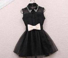 cute bow knot dress