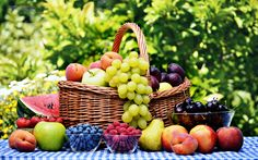 Fruits basket grape strawberry apple watermelon blueberry cherry nature food delicious sweet summer table wallpaper | 3840x2400 | 654033 | WallpaperUP