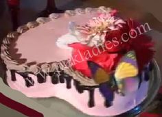 How to Make Valentine Chocolate Sponge Cake, English / Urdu Recipe