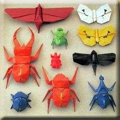 Origami Advanced Insect Book 02 Butterfly Beetle Lobster | eBay