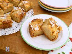 Torta solo mele, senza burro né olio ma con tantissime mele tagliate a fettine sottili e pochissimo impasto. Di Kissthecook.