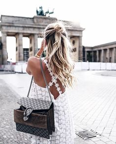 Pretty back details and the perfect half-up bun? We give this look  : @ohhcouture                                                                                                                                                                                                                                                                                                                                                                                                                                                           Instagram
