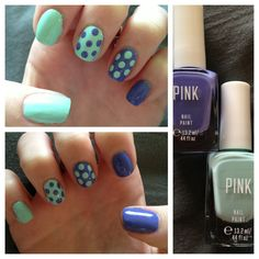 Polka dot nails with reverse color