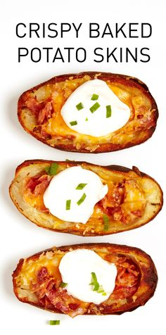 Baked to a golden crisp, these lightened-up Potato Skins are winners! #BiteMeMore #recipes