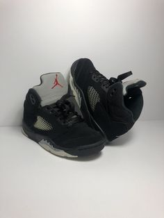 best website 889c2 01320 Nike Air Jordan 5 Retro BP SZ 13C Black Fire Red Metallic Silver 440889-003