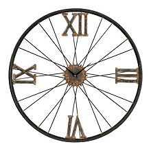 Kick it into high gear with this industrial wall clock.
