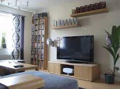 Resultado de imagen para sala de television en espacios pequeños