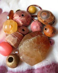 Papaya Juice Bead Mix - Artisan Jewelry Components. $7.00, via Etsy.