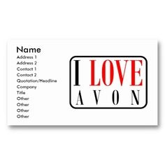 the 17 best avon business cards templates images on pinterest