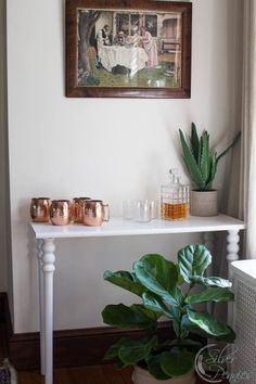 Pretty Pegs Faux Marble Bar Console Finding Silver Pennies