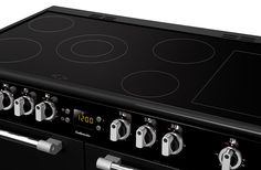 Leisure Cookmaster Electric range cooker hob close up black CK100C210 100cm