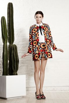 Alice+Olivia...Spanish influence ala matador with some traditional South American embellishments and school girl charm