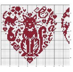 ... Cat heart cross stitch
