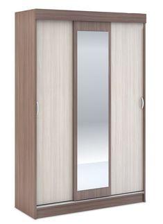 Sektor BASKA to je spálňový nábytok za prijateľné ceny. Atraktívna kombinácia farieb. bledý odtieň /jasan šimo svetlý/ predných dielov kontrastne dopĺňa tmavý odtieň korpusu /jasan šimo tmavý.  Vo vnútri sa nachádzajú 3 police a vešiaková tyč. #byvanie #domov #nabytok #skrine #skrinespojazdom #modernynabytok #designfurniture #furniture #nabytokabyvanie #nabytokshop #nabytokainterier #byvaniesnov #byvajsnami #domovvashozivota #dizajn #interier #inspiracia #living #design #interiordesign Bathroom Medicine Cabinet, Armoire, Mirror, Furniture, Police, Home Decor, Clothes Stand, Decoration Home, Closet