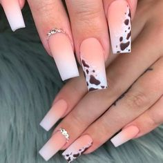 Coffin Nails with Animal Print ❤ 35+ Magnificent Coffin Nails Designs You Must Try ❤ See more ideas on our blog!! #naildesignsjournal #nails #nailart #naildesigns #nailshapes #coffinnails #balerinanails #coffinnailshapes