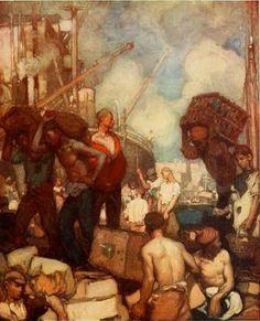 Study for a Decorative Panel - Sir Frank Brangwyn