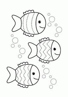 Line worksheets. Line worksheets. Preschool Writing, Preschool Learning Activities, Preschool Worksheets, Kids Learning, Fish Coloring Page, Coloring Pages For Kids, Math For Kids, Crafts For Kids, Fish Template