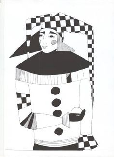"Saatchi Art Artist Nona Norkina; Drawing, ""Jester man. "" #art"