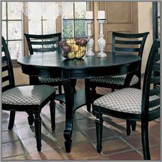 black-and-white-kitchen-table-and-chairs-300x300. & Dining Room : Dining Room Furniture With Round Shaped Granite Top ...