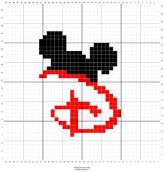 disney inspired graphgan chart - fan purposes only, graphgan crochet chart cal mickey mouse crochet a long 40x40