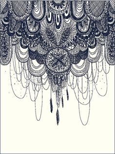 Hanging zentangle designs | This would actually look pretty cool as a sleeve tattoo haniging from the shoulder