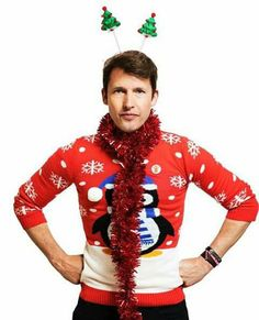 James Blunt by TomDymond Christmas Jumper Day, Christmas Sweaters, James Blunt, Charity, Singer, Romantic, Celebrities, Sexy, People
