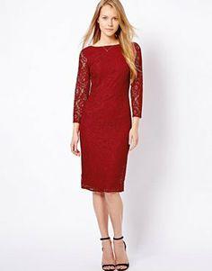 Top Dress Brands - Oasis 3 4 Sleeve Lace Midi Dress d536009b1b4e