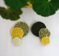Crochet Earrings Cotton Thread Summer Fashion by stasiSpark