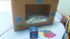 Recycling ideas - Aquarium / Aquário com caixa de árquivo morto.