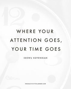 Are you paying attention to the right things?  #beproductive