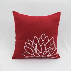 Red White Pillow Cover Throw Pillow Cover Decorative Pillow