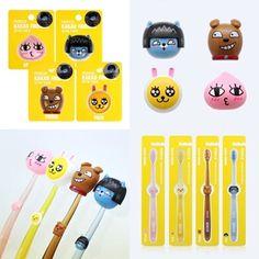 Toothbrush + Figure Cap Holder Case Set Kakao Talk Friends Figure Character 62 #LGHouseholdHealthCareLtd
