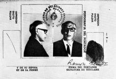 Passaporto falso utilizzato da Che Guevara per intrufolarsi in Bolivia nel 1966. La sua identità era quella di Ramón Hernández Benítez, un ...