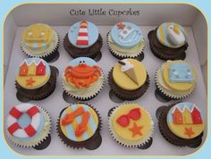 Beside the Seaside Cupcakes - by HeidiS @ CakesDecor.com - cake decorating website