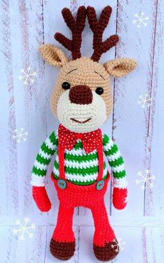 Christmas deer amigurumi pattern