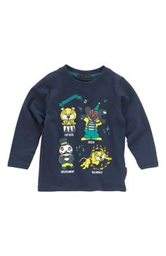 Super lækre Name it T-shirt Porten mini Mørkeblå Name it T-shirt til Børn & teenager i behageligt materiale