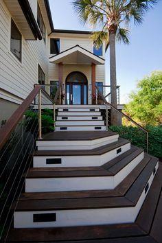 Pretty Outside Staircase Entrance