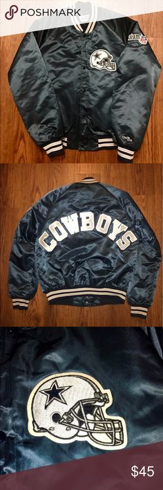 VINTAGE COWBOYS BOMBER Size: Medium Condition: Pre-owned - Great Price: $45 Vintage Jackets & Coats Bomber & Varsity