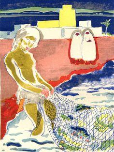 Kees van Dongen, Le pêche de Jourer by CarambasVintage, $60.00