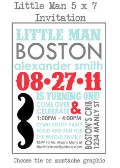 Little Man Invitation