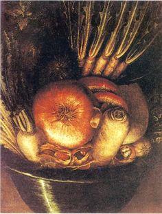 The Vegetable Bowl - Giuseppe Arcimboldo
