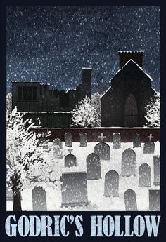 Godric's Hollow retro travel poster from Allposters.com