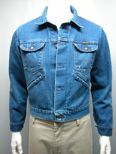 Vintage WRANGLER Mens 14 oz NO FAULT Denims Jacket SZ 40  Made in USA #Wrangler #BasicJacket
